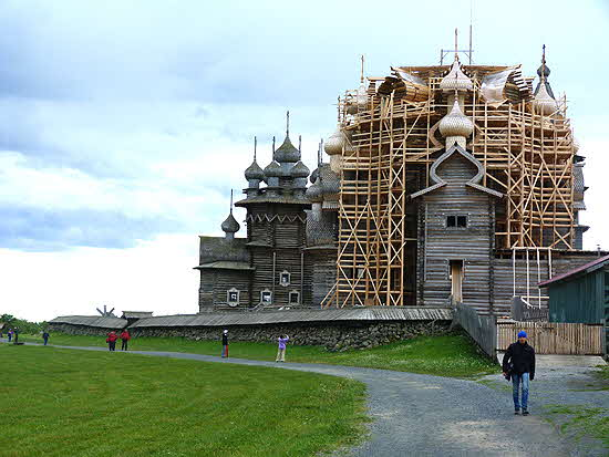 Russia Church of Transfiguration under Re-construction