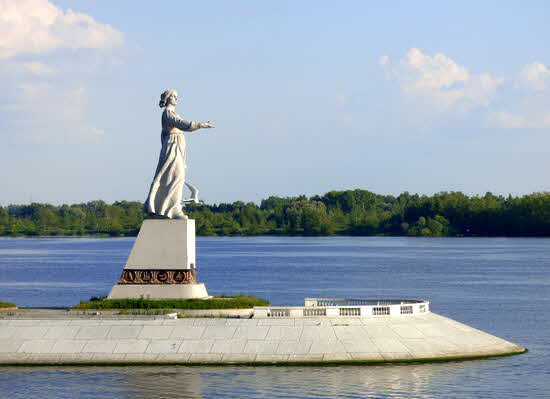 Russia Statue of Mother Volga