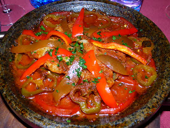 Morocco Breast of Chicken with Vegetables Tajine