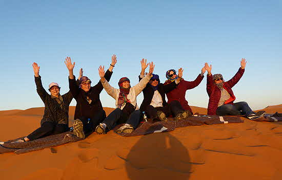 Morocco Group at Top of a Dune