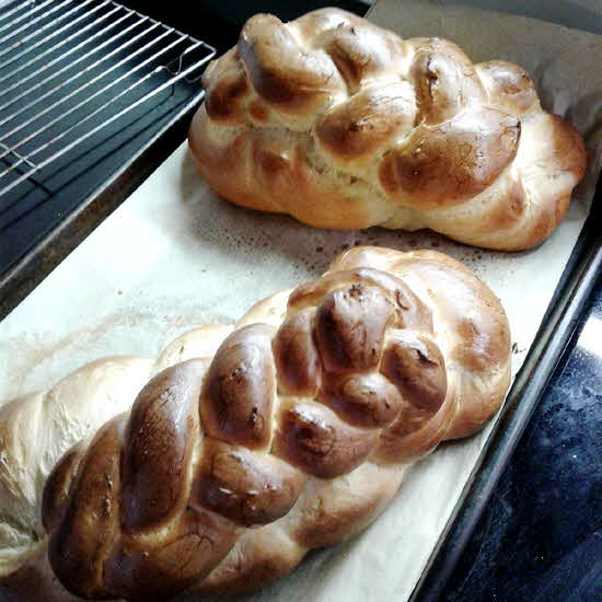 The author's double braided challah