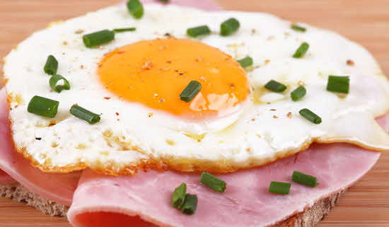 Traditional Ham and Egg on Toast