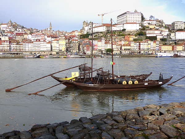 Oporto Wine Barges on the Douro River