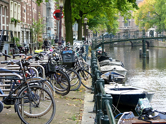 Amsterdam Bicycles and Canal