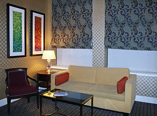 Baltimore Hotel Monaco suite living room