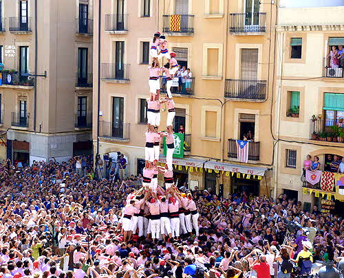 Catalonia Human Tower