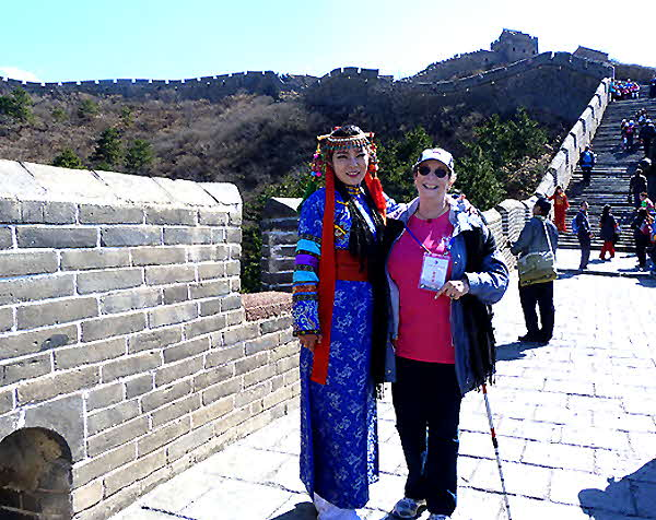 China 2016 Barbara on the Great Wall