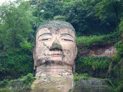 China Leshan Giant Maitraya Buddha Close Up