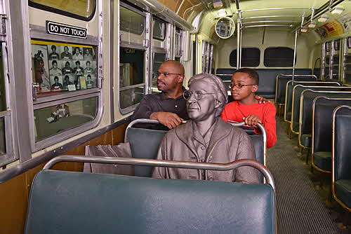 Civill Rights Musuem Segregated Bus