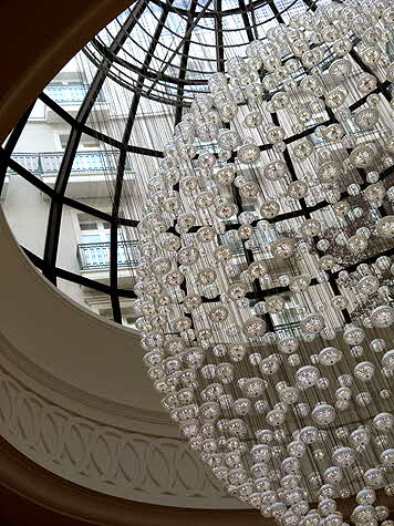 Corinthia London Baccarat Chandelier