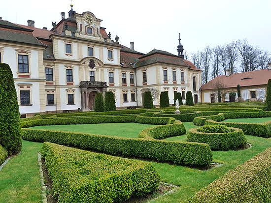 Czech Republic Chateau Jemniste and garden