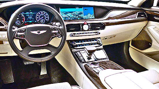 Genesis G90 Interior and console