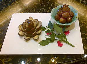Hangzhou -- tea infused quail eggs