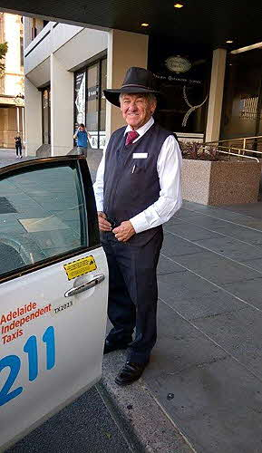 Hilton Adelaide greeted by the bush-wrangler bellhop