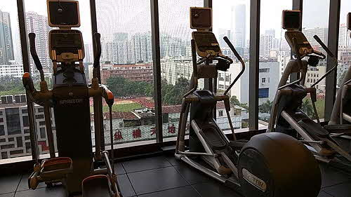 Hilton Guangzhou Tianhe fully outfitted PRECOR gym
