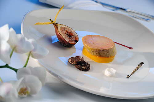 Hotel Paris Restaurant Fig and Foie Gras Plate