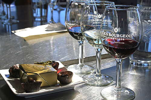 Les Bourgeois wine and chocolate tasting