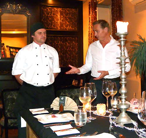 Chef Bart Saive and Remco