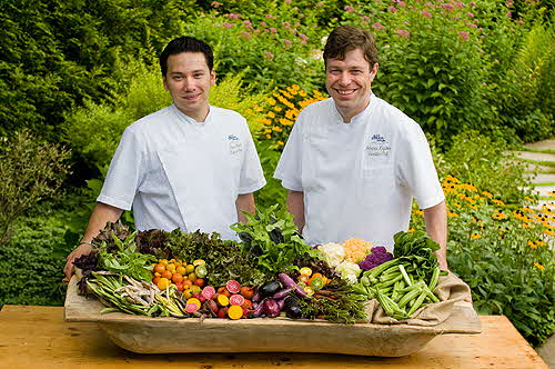 Old Edwards_Inn Chefs_with_Veggies