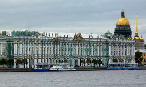 Russia - St. Petersburg Hermitage from Sea