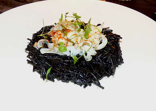 Salinas Fideo in Ink Broth