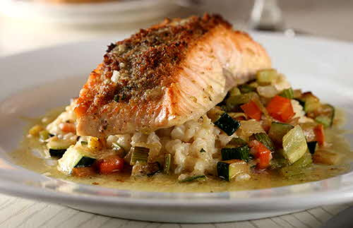 Salmon in a tarragon beurre blanc