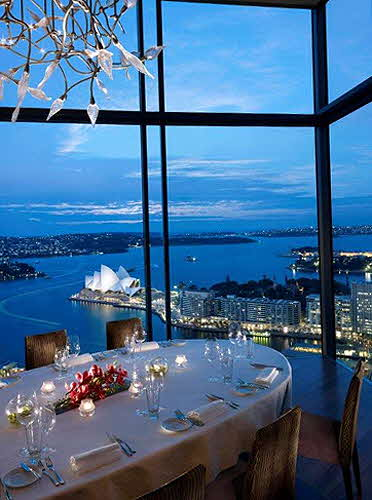 Shangri-la Sydney the Altitude Restaurant.