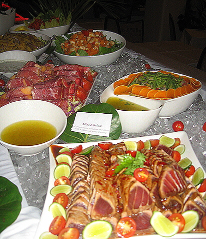 Spice Island Resort Buffet Table