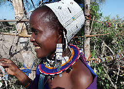 Tanzania Masai Woman with Jewelry