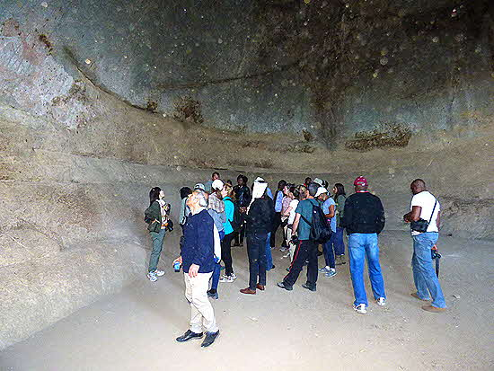 Zimbabwe cave with pictographs